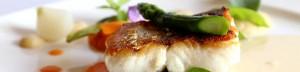 Pavé de Merlu Restaurant Hostellerie de la Mer Le Fret en Crozon