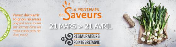 Printemps des saveurs, évènements restaurants pointe de Bretagne 2018