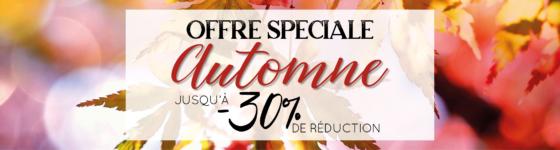 Offre spéciale automne réduction weekend